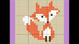 Fox Knitting Chart Graph Knitting Pattern Animals Graph Chart Cartoon Graph