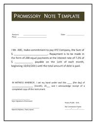 Examples Of Promissory Note Xmas Letter Template Gift Certificate
