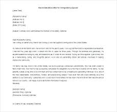 Immigration Letter Of Recommendation For Friend Aplicatics Co