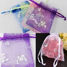 erfly organza colors gift bags jewelry wedding favors drawstring 2x3 90x70m