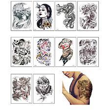 10 Tetovací Nálepky Ostatní Non Toxicmiminko Dítě Dámské Pánské Dospívající Flash Tattoo Dočasné Tetování