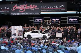 charity cars always create a lot of excitement on the auction block this 2017 shelby