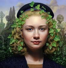 ivy 2016 7 3 4 x 8 1 4 oil on gold leaf