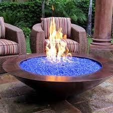backyard fire glass fire pit