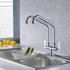 Designed Bridge Kitchen Faucet Two Pipe Cold ly