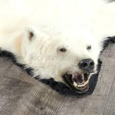 polar bear rug foot faux for