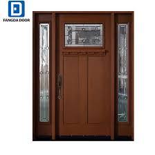 half moon glass inserted hand craftsmanship decent villa fiberglass door pictures photos