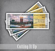 wedding invitation ticket template kansas city royals baseball tickets rehearsal dinner invitation