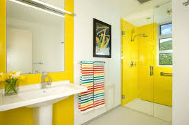 White and yellow bathroom colors for small bathroom remodel