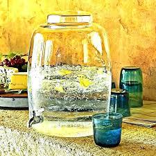 large drink dispenser glass dispensers beverage with spigot tap