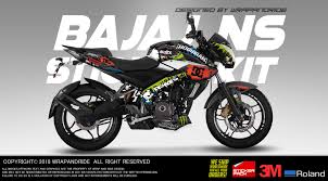 Pulsar Sticker Design Bajaj Pulsar Ns 160 200 Hoonigan Design Full Body Wrap Decal Sticker Kit