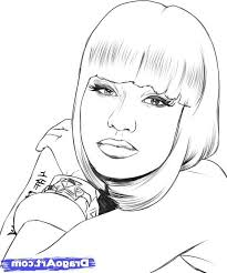Small Picture Luxury Nicki Minaj Coloring Pages 72 For Your Picture Coloring