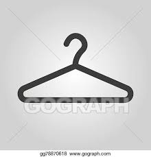 Symbol Coat Rack Simple Vector Art The Hanger Icon Coat Rack Symbol Flat Clipart
