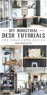 10 DIY Industrial Desk Tutorials For Your Home Office My DIY Envy