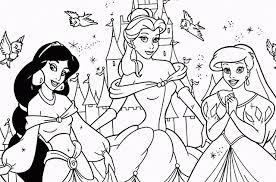 Disegni Da Colorare Principesse Disney Jasmine Belle E Ariel Disegni