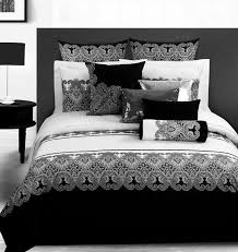 classic damask black and white duvet cover bedding sets hollywood glam style bedding