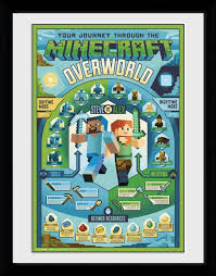 Minecraft Pictures To Print Minecraft Overworld Biome Collector Print