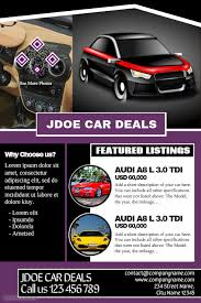 Car Dealership Flyer Templates Car Dealership Flyers Great For Presenting Business And