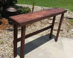 Narrow bar table Handmade Rustic Console Table Sofa Bar Red Mahogany Large Narrow Long 12x60x38 Etsy Narrow Bar Table Etsy