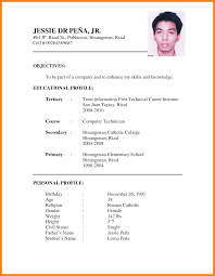 9 Cv Format For Job Application Pdf Nanny Resumed