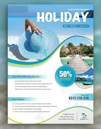 Holiday Travel & Vacation Flyer Template | Brochure & Flyer Designs ...