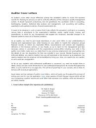 Sample Cover Letter Audit Accounting