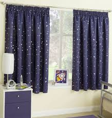 Lined Bedroom Curtains Cosmic Childrens Bedroom Lined Black Out Curtains Stars Space Kids