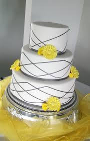Grey And Yellow Wedding Cakes