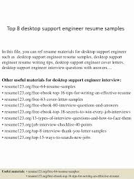 ... Resume format for Desktop Support Engineer Beautiful top 8 Desktop Support  Engineer ...