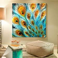 ... Fresh Decoration Wall Art Painting 7 Peacock Image ...