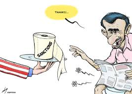 Image result for US IRAN sanctions CARTOON