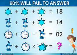 table fan clock star viral facebook math puzzle with correct answer math puzzles pics story