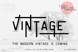 You can use this font to create patterns, illustrations, designs, logos, and more! Font Vintage Modern Vintage Gal