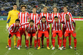 Atletico madrid slipped up in la liga for the first time in nine games on monday as celta vigo snatched a late equaliser to deliver a ray of hope to barcelona and real madrid. Atletico De Madrid Team Posing Before A Spanish League Match Stock Photo Picture And Royalty Free Image Image 11729452