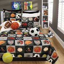 boys bedding reversible quilt and pillow sham set choice of twin or full all star sports