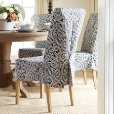 samsara linen slip cover for echo low back dining chair indigo 62 x 43
