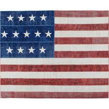 vintage american flag rug for