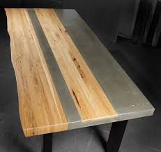 concrete and wood furniture. Concrete Wood \u0026 Steel Dining Kitchen Table And Furniture