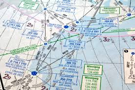 Air Navigation Chart Stock Image Image Of Waypoint Route