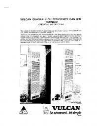 manuals climate master pty wall furnace vulcan quasar manual