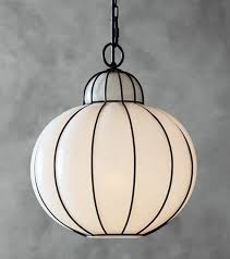 pottery barn camille milk glass caged pendant kitchen lighting