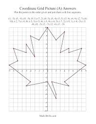 Free Graphing Paper Template Numbered Coordinate Grid 4 Quadrant