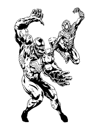 Small Picture Spiderman Venom Coloring Pages aecostnet aecostnet
