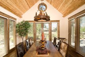 rustic dining room light fixture. Rustic Dining Room Light Fixtures Ideas With Endearing Design Pictures Vaulted Bamboo Ceiling Idea Feat Set Animal Skin Chairs Cover And Unique Hanging Fixture