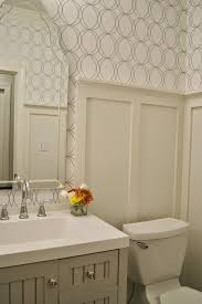 Faux Wainscoting Wallpaper Allen Roth White Silver Circles Wallpaper Bath Martha Stewart Seal