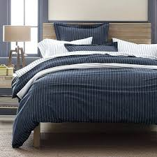 covers the duvetsnavy spencer stripe flannel duvet sham designed with a handsome white pinstripe on a navy plain navy