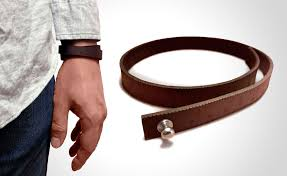 wrist ruler leather bracelet and a ruler