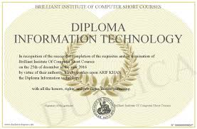 diploma information technology