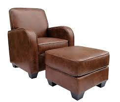 com ravenna home club faux leather accent chair and ottoman 29 w brown kitchen dining