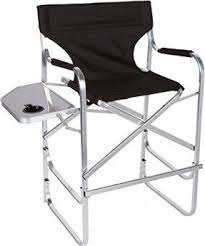 fold up chairs with side table. trademark innovations light weight aluminum folding tall director\u0027s chair with side table fold up chairs l